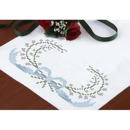 Herrschners®  His & Hers Dresser Scarf Stamped Cross-Stitch