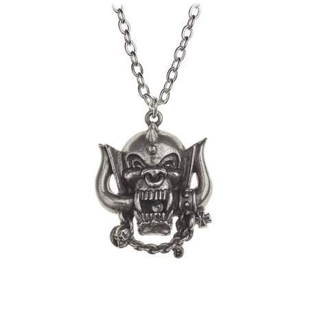 Motorhead War Pig Head Necklace Snaggletooth Pewter Cast (Pewter Pig)