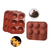 6 Hole Silicone Molds For Hot Chocolate Bombs, Coco Bomb Mold 3 Pack Set, Half Circle Silicone Mold Sphere For Baking, 3 Piece Silicone Sphere Mold, Silicone Candy Mold Or Silicone Baking Molds