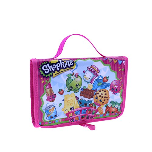 Shopkins Toy Carry Case Tri-Fold Storage Organizer - 6 Internal Storage Compartments