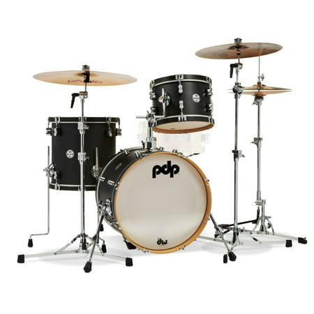 pdp concept maple classic bop 3 piece shell pack w 18 bass drum wood hoops ebony stain. Black Bedroom Furniture Sets. Home Design Ideas