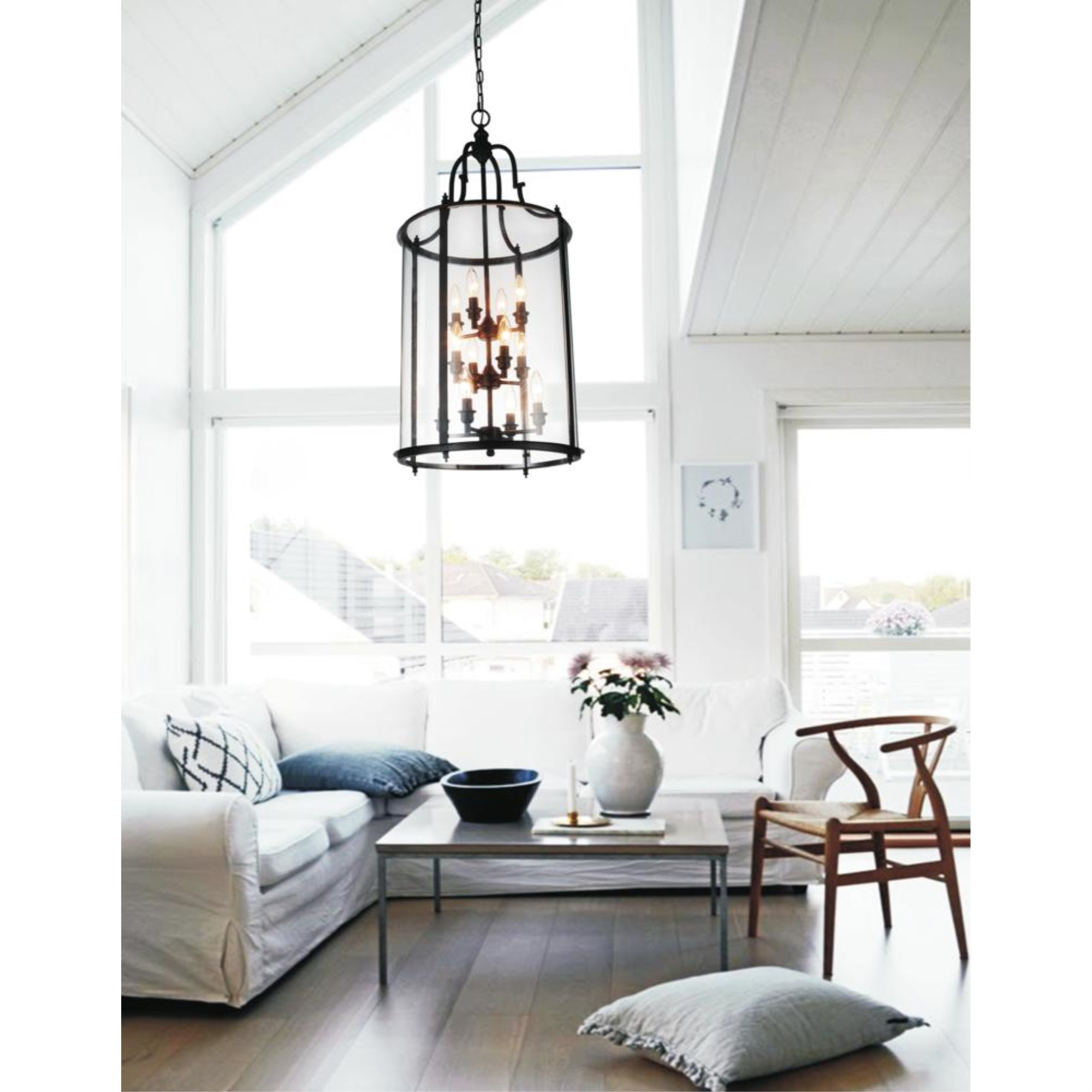Image of: 12 Light Drum Shade Chandelier With Oil Rubbed Bronze Finish Walmart Canada