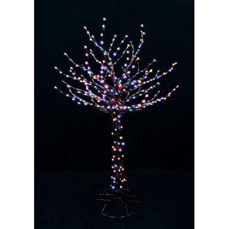 Santas Best Christmas Trees.Santas Best 2407026br Cs Christmas Led Bare Branch Tree 6 Multicolored