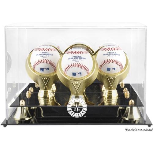 Seattle Mariners Fanatics Authentic Golden Classic Three Baseball Logo Display Case - No Size