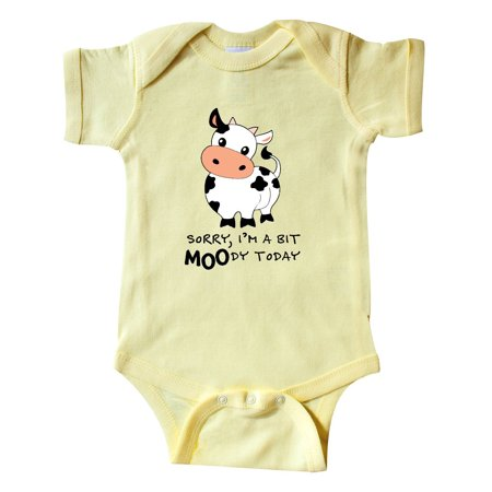 Sorry, I'm a bit MOOdy today cute cow pun Infant Creeper