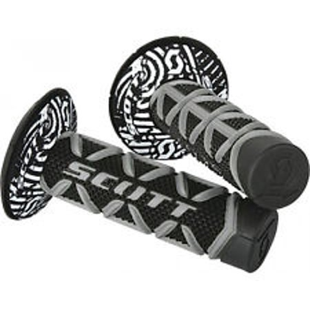 Scott Diamond MX Grips Black/Gray (Scott Usa Black Grips)