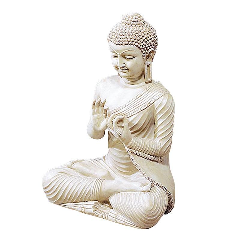 Benzara Ivory Finish Buddha Statue by Overstock