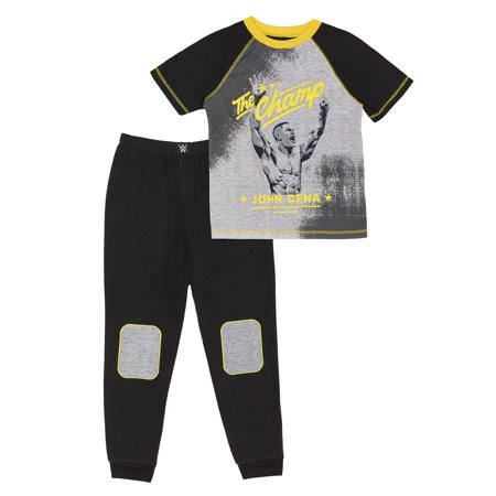 - Boys' WWE John Cena 2 Piece Pajama Sleep Set (Little Boy & Big Boy)