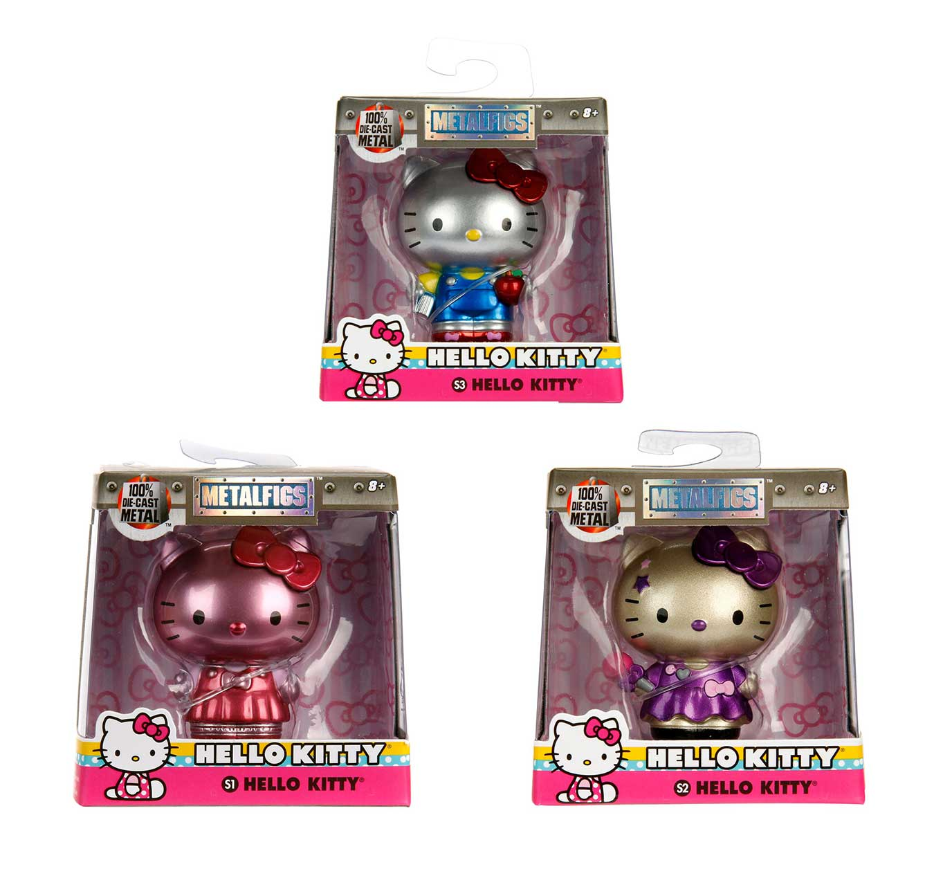 2.5� METALS: Set of 3 Hello Kitty by Jada