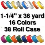Vinyl Marking Tape 1-1/4 inch x 36 yard (38 Roll Case) - Kelly Green