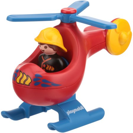 PLAYMOBIL Fire Rescue Helicopter Playset