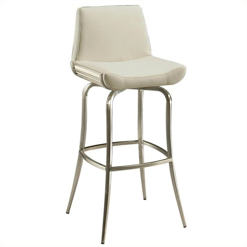 "Pastel Furniture Degorah 30"" Bar Stool in Ivory by Minson Corporation"