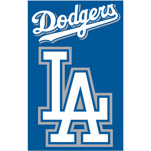 "MLB Applique Banner  44"" X 28"" , Los Angeles Dodgers"