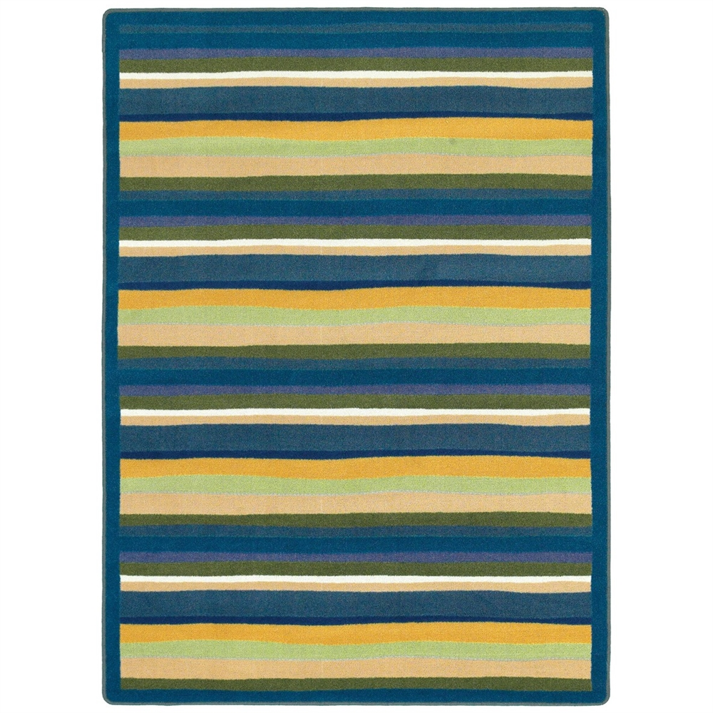 Joy Carpets 1539-01 Yipes Stripes Just for Kids Rug 10-ft 9-in 13-ft 2-in