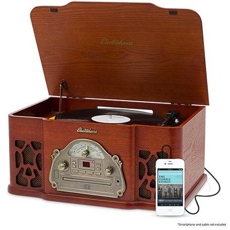 Electrohome vinyl record player classic turntable wood for Classic house cd