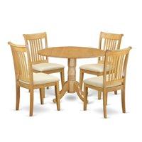 East West Furniture Dublin DLPO5-C Five Piece Drop Leaf Dining Set