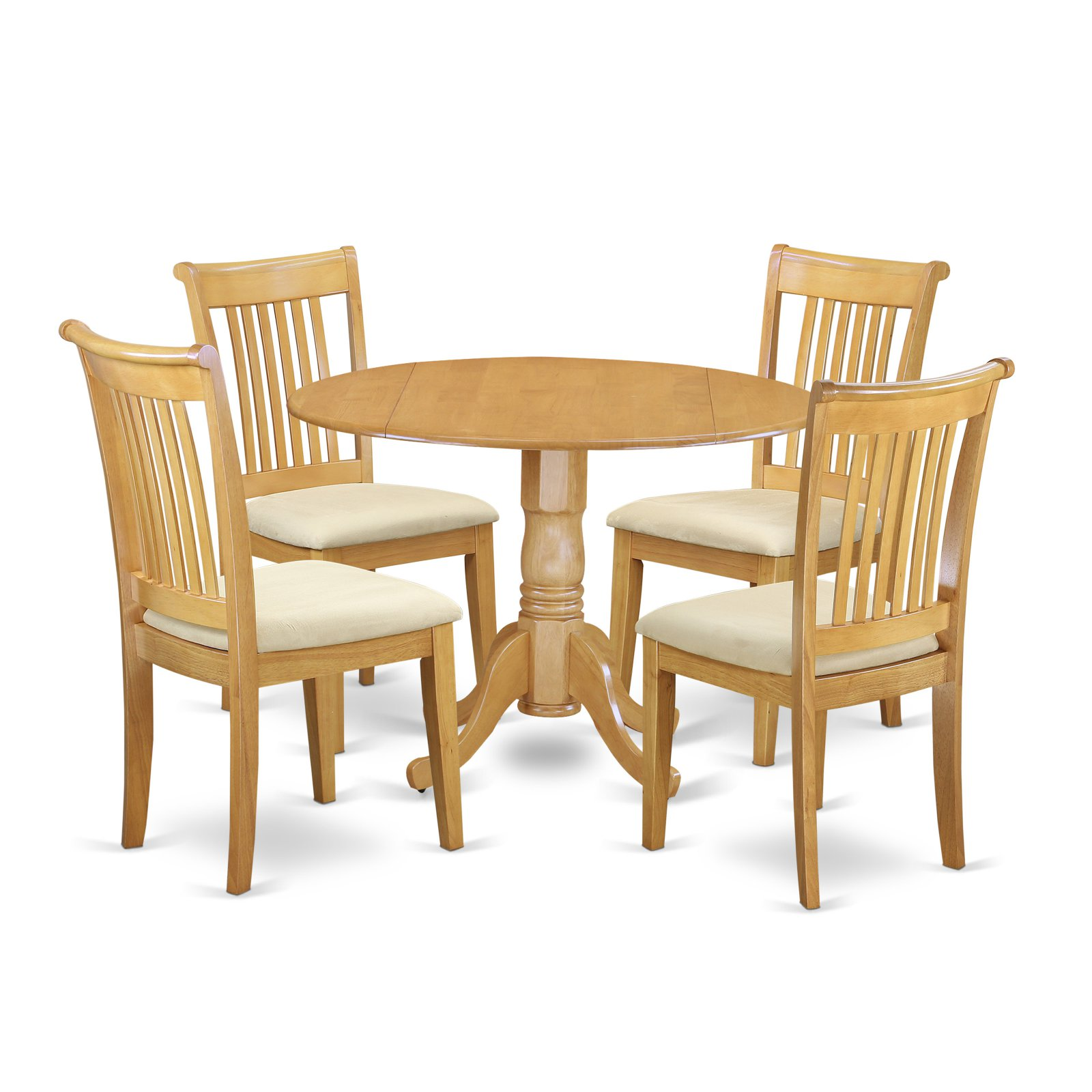 East West Furniture Dublin DLPO5-C Five Piece Drop Leaf Dining Set