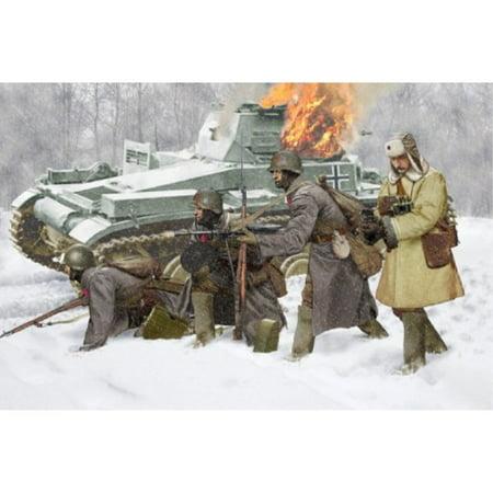 Dragon Models Soviet Infantry Winter 1941 Building Kit, Set of 4,