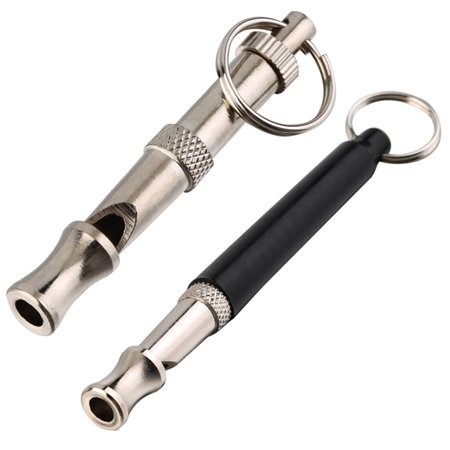 New Pet Dog Training Whistle Obedience Supersonic Sound Pitch Ultra Sonic Quiet Discipline Metal Color Black Key Ring Loop