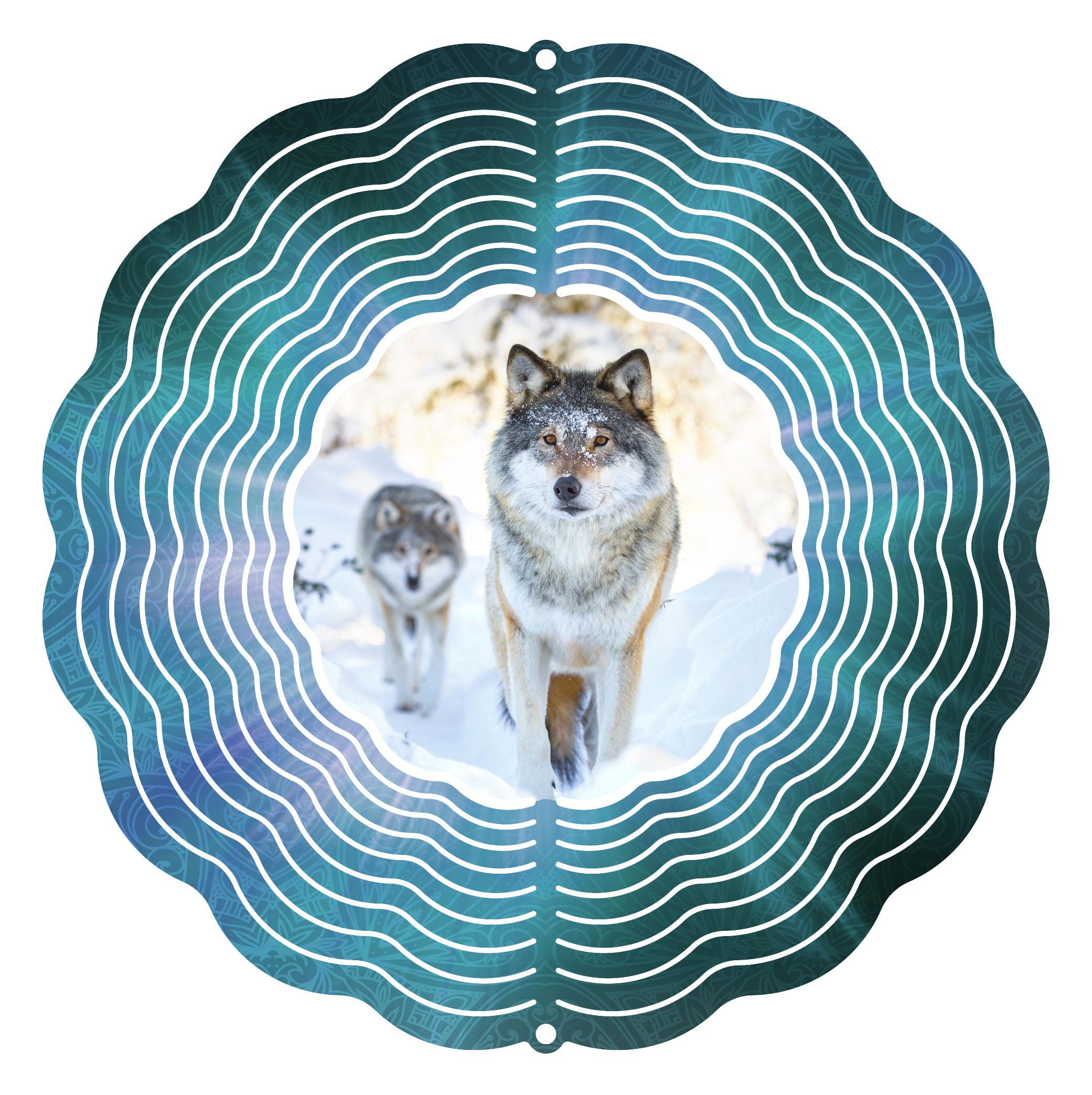 "Garden Wind Spinner Alpha Wolf 10"" Wind Spinner by Next Innovations"