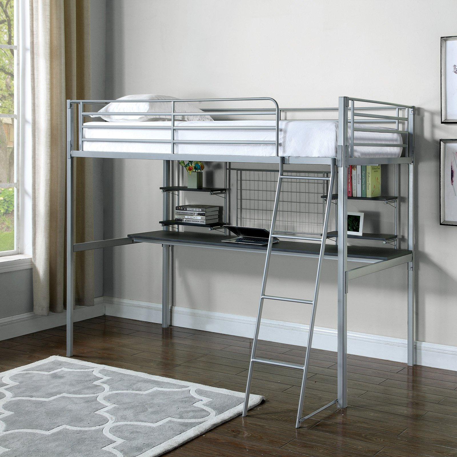Boltzero Loft Bunk Bed in Silver
