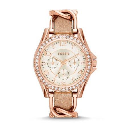 Fossil Women's Riley Leather Watch (Style: ES3466) (Fossil Watch Color)