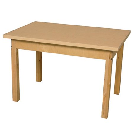 - Wood Designs HPL304414C6 Mobile Rectangle High Pressure Laminate Table With Hardwood Legs, 14 in.
