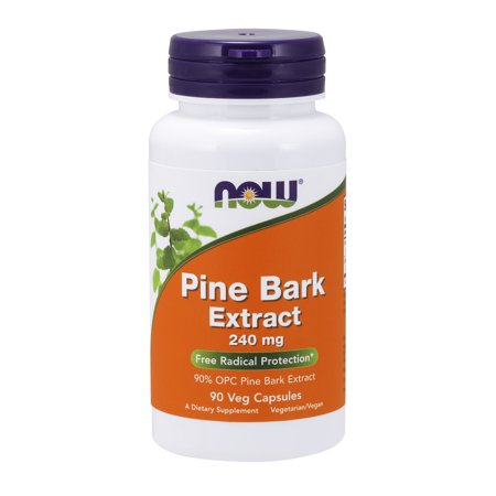 Ultimate Yohimbe Bark Extract - NOW Supplements, Pine Bark Extract 240 mg, 90% OPC Pine Bark Extract, (from the Inner Bark of Chinese Red Pine), 90 Veg Capsules