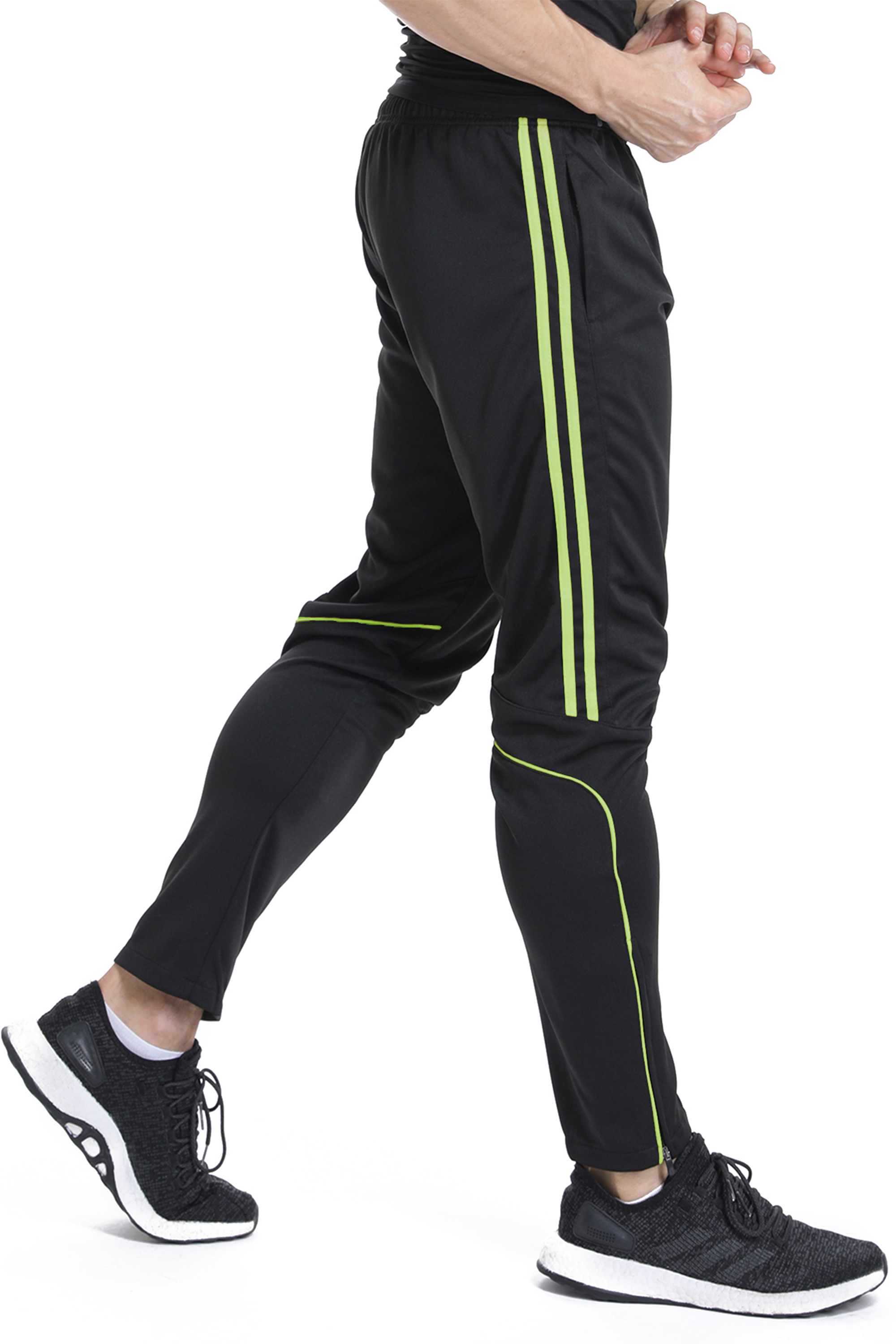 FITTOO Mens Running Training Pants Pockets Run Joggers Sports Workout Trousers