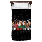 Big Bang Theory Group Spark Twin Duvet Cover White 68X88