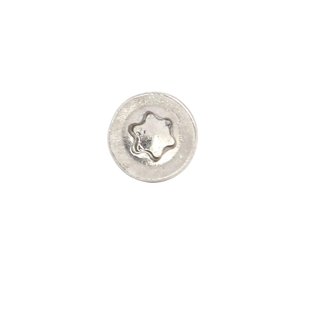 M3x25mm 304 Stainless Steel Flat Head Torx Drive Type Screw Silver Tone 50pcs - image 2 of 3