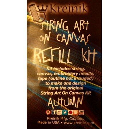 Kreinik String Art on Canvas Free-Form Embroidery Refill Kit Single (Arc Single)