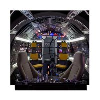 Star Wars Millennium Falcon Cockpit/Backdrop Cardboard Stand-Up