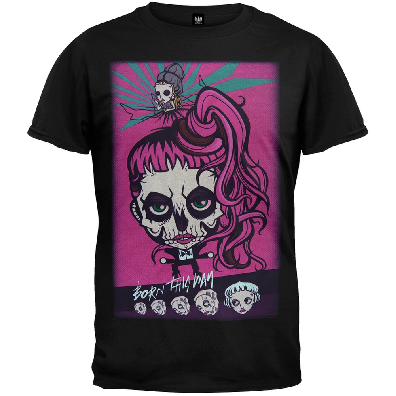 Lady Gaga - Gaga Skeleton Cartoon 2013 Tour Soft T-Shirt