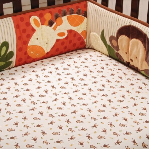 Jungle 123 Fitted Sheet by Kids Line - 4020FS