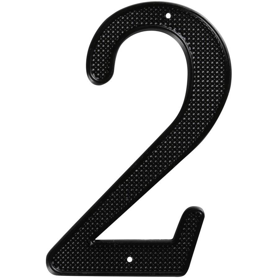 "Stanley Hardware 579928 4"" Black #2 House Numbers"