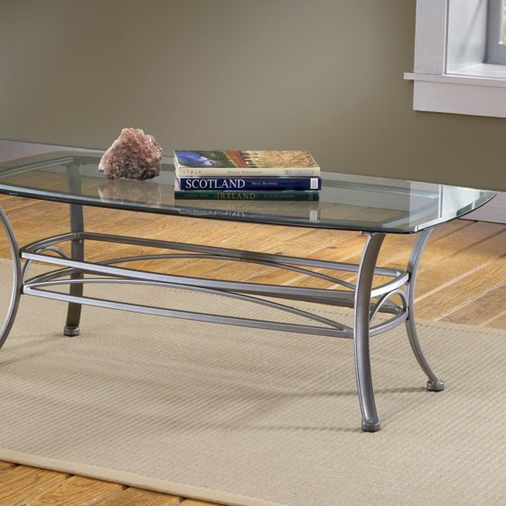 Glass Top Coffee Table Walmart: Hillsdale Abbington Rectangle Glass Top Coffee Table