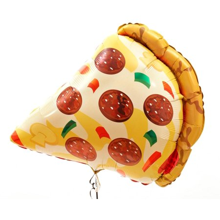 38 Mylar Pizza Slice Super Shape Balloon Multi-Colored (Super Balloons)