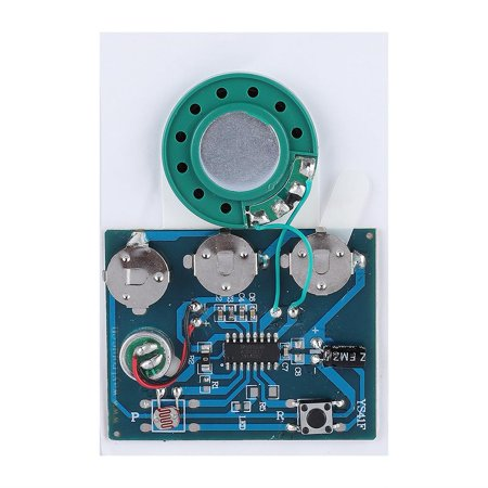 Sound Module - WALFRONT 30s Recordable Music Sound Voice Module Chip 0.5W with Button Battery , Recording Chip, Recording Module