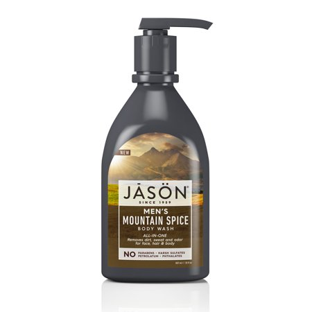 JASON Men's All-in-One Mountain Spice Body Wash, 30 oz. (Packaging May (Best Men's Body Products)