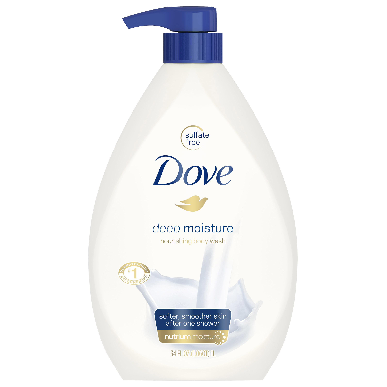 Dove Deep Moisture Body Wash Pump, 34 oz