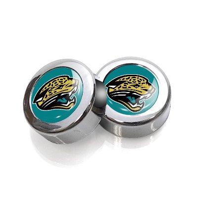NFL Jacksonville Jaguars License Plate, Frame Chrome Screw Covers