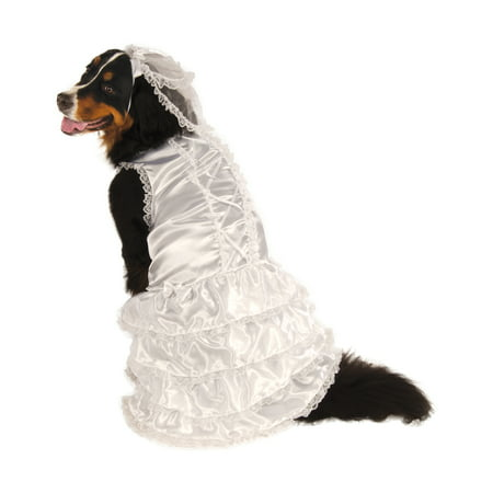 Bride Big Dog White Wedding Gown Dress Pet Halloween Costume