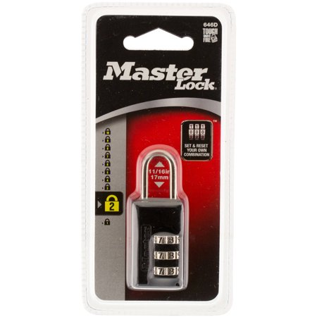 Master Lock 646D Wide Set Combination Lock Black