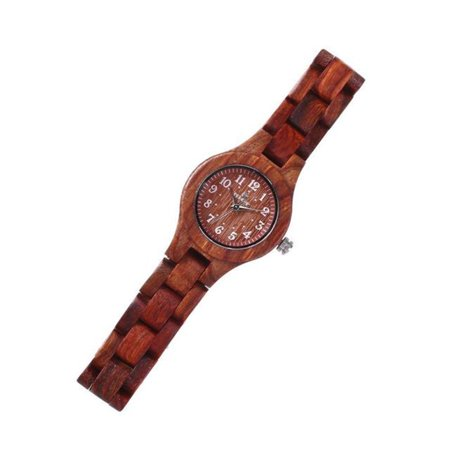 Peroptimist Wooden Watch with Gift Box, Japanese Quartz Movement Sports Casual Watches, Consumes More Less Power and Long Lasting Design, Delicate Decoration To Show Mature and Elegance A