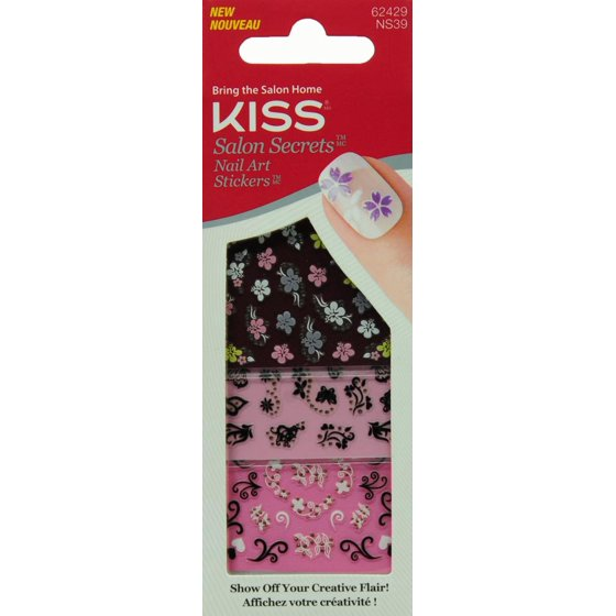 Kiss Salon Secrets Nail Art Stickers, Pep Squad, 3 sheets - Walmart.com