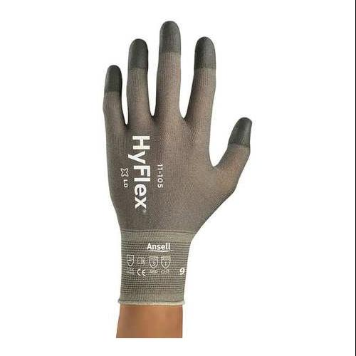 ANSELL Coated Gloves,Polyurethane,Silver,PR, 11-105