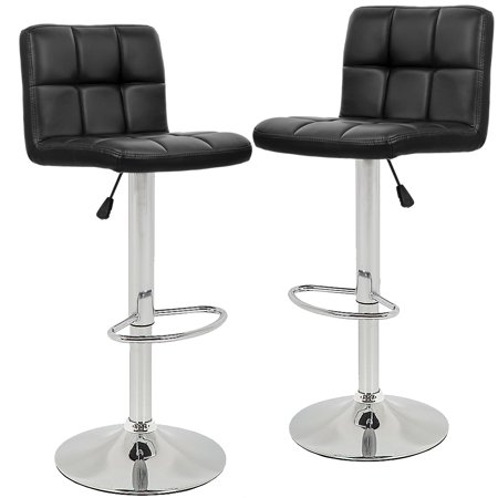 Bar Stools Barstools Swivel Stool Height Adjustable PU Leather Swivel Bar Stool with Back Kitchen Counter Stools Bar Chairs Dining Chairs Set of 2 ()