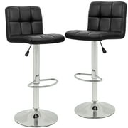 Bar Stools Barstools Swivel Stool Height Adjustable PU Leather Swivel Bar Stool with Back Kitchen Counter Stools Bar Chairs Dining Chairs Set of 2