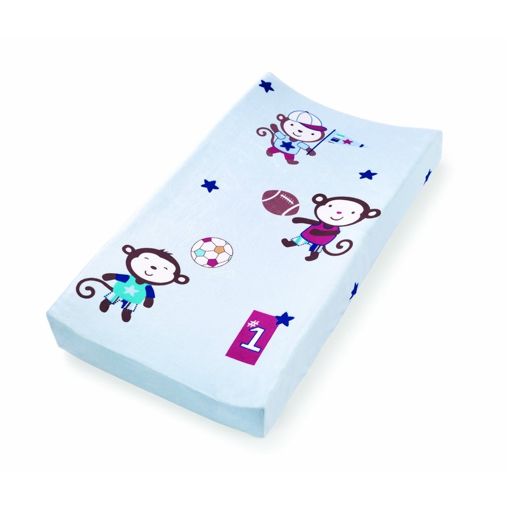 Summer Infant Plush Pals Changing Pad Cover Monkey Sport